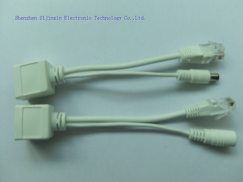 POE injector&splitter kit with 2.1*5.5mm DC