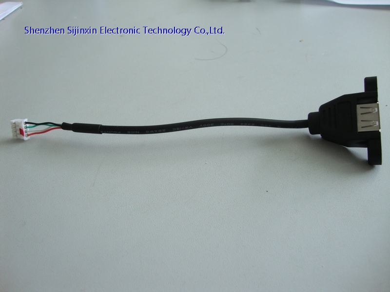 Panel mounted USB2.0 extension cable
