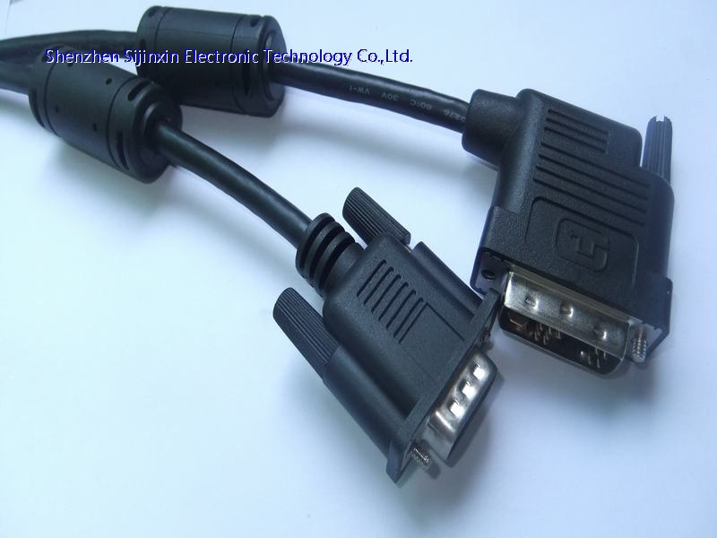 High resolution DVI to VGA cable