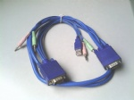 4-in-1 VGA+ USB 3.5mm audio KVM cable