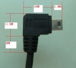 Angled Mini USB cable